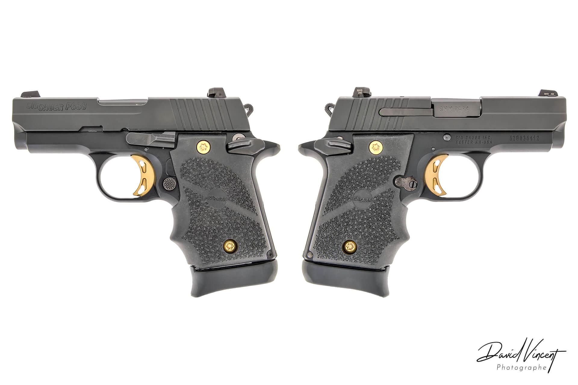 SIG P938 - Photographe d'armes à feu