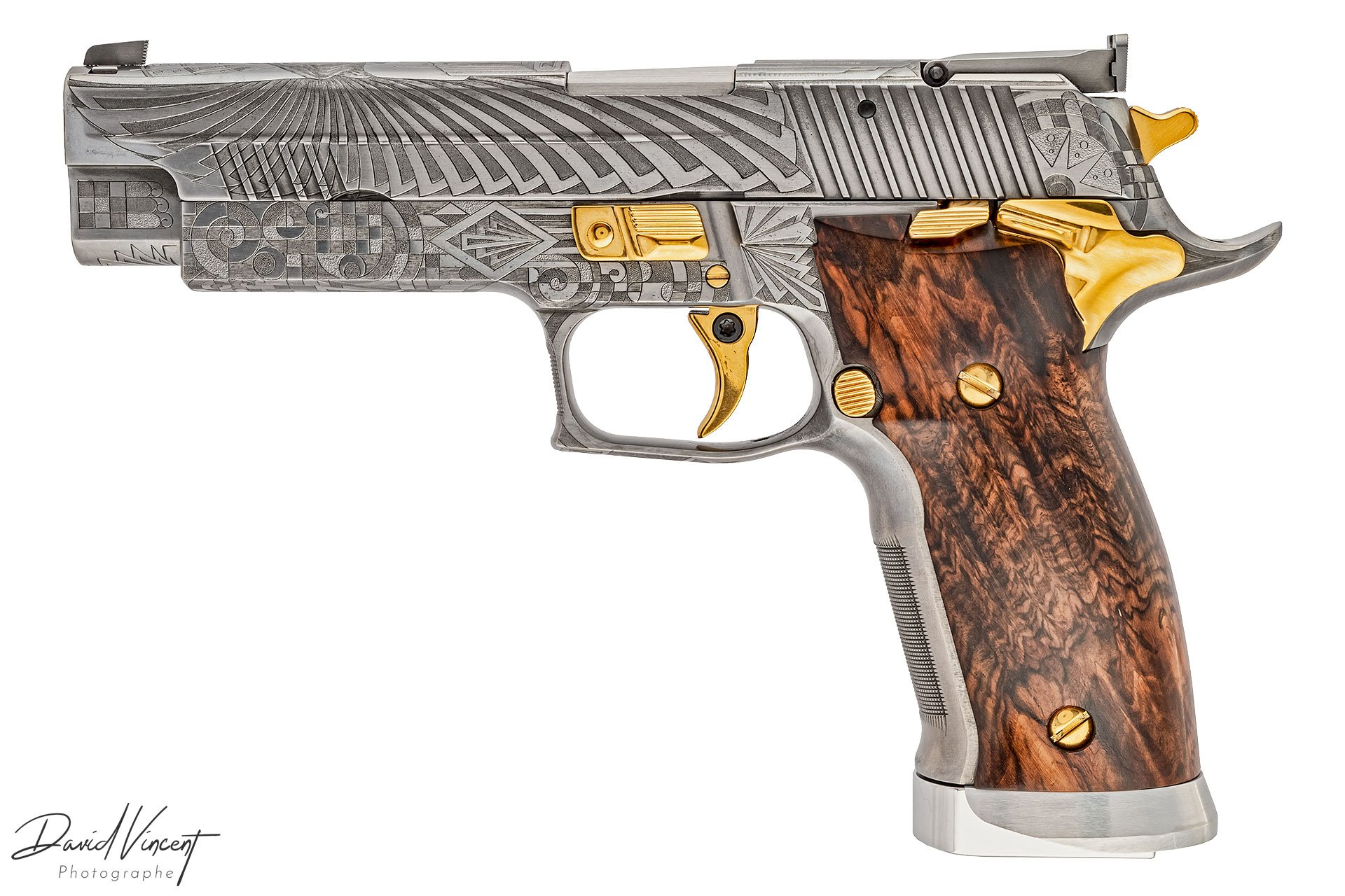 SIG P226 X-Five Art Deco Engraved
